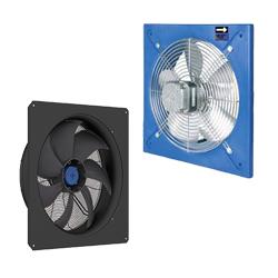 Axiálne ventilátory nástenné